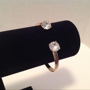 International Concepts Gold Tone Hinged Bracelet
